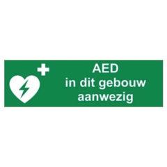 AED, sticker, tekst