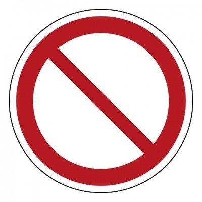 Algemeen verbod, sticker, ISO 7010, BHV, EHBO, VCA