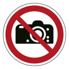 Fotograferen verboden, sticker, ISO 7010, BHV, EHBO, VCA, verbod