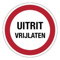 Uitrit vrijlaten, sticker, VCA, verbod