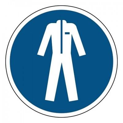 beschermende kleding verplicht, sticker, ISO 7010, ARBO, VCA, gebod