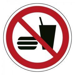 eten en drinken verboden, sticker, ISO 7010, BHV, EHBO, VCA, verbod
