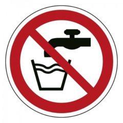 geen drinkwater, sticker, ISO 7010, BHV, EHBO, VCA, verbod