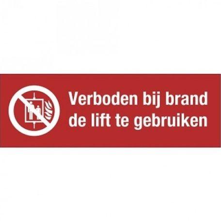 lift, tekst + pictogram, sticker, ISO 7010, BHV, EHBO, VCA, verbod