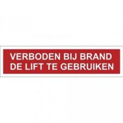 lift, tekst, sticker, ISO 7010, BHV, EHBO, VCA, verbod