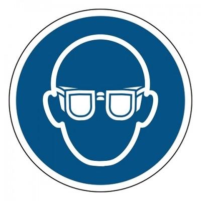 oogbescherming verplicht, sticker, ISO 7010, ARBO, VCA, gebod