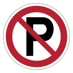 verboden te parkeren, sticker, BHV, VCA, verbod