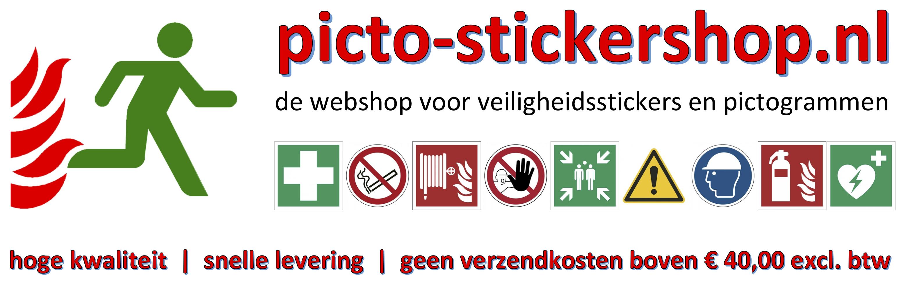 picto stickershop - de webshop voor uw veiligheidsstickers en pictogrammen