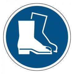 veiligheidsschoenen verplicht, sticker, ISO 7010, ARBO, VCA, gebod