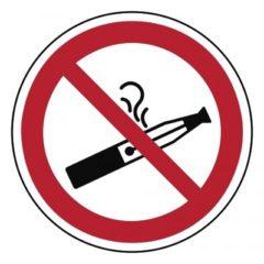 verboden e-sigaretten te roken, sticker, ISO 7010, BHV, EHBO, VCA, verbod