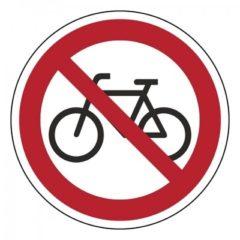 verboden fietsen te plaatsen, sticker, ISO 7010, BHV, EHBO, VCA, verbod