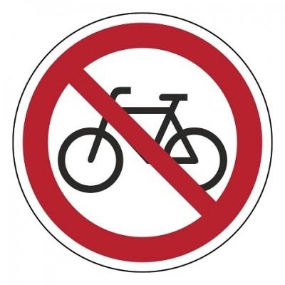 verboden fietsen te plaatsen, sticker