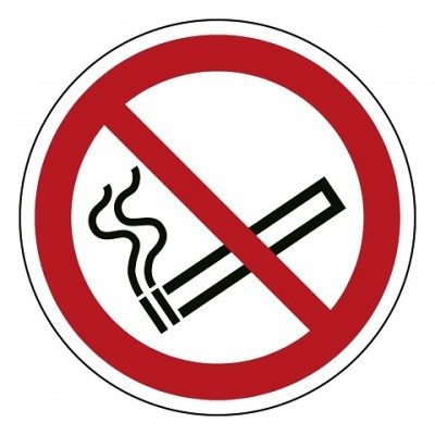 verboden te roken, sticker, ISO 7010, BHV, EHBO, VCA, verbod