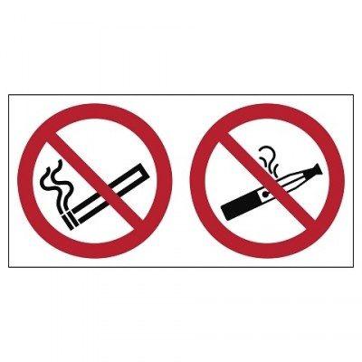 verboden te roken incl. e-sigaretten, sticker, ISO 7010, BHV, EHBO, VCA, verbod