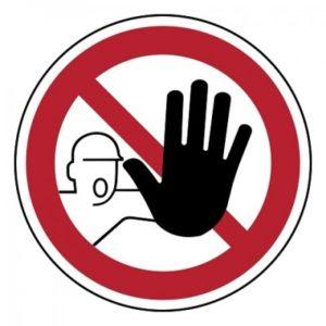 verboden toegang voor onbevoegden, sticker, ISO 7010, BHV, EHBO, VCA, verbod