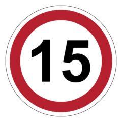 15 km, verkeer, auto, verbod, sticker