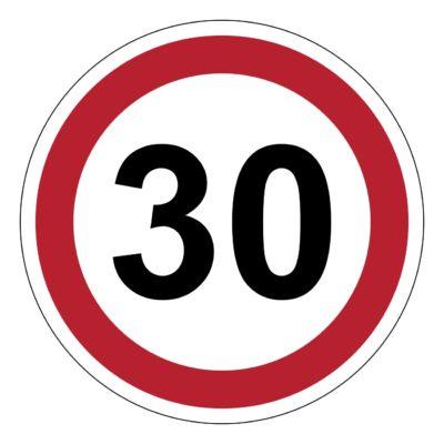 30 km, verkeer, auto, verbod, sticker