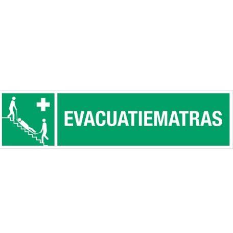 evacuatiematras+tekst