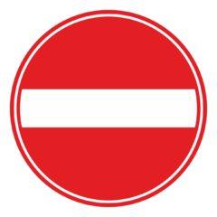 eenrichting - deze richting gesloten