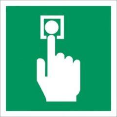 nooddeur ontgrendeling - groene nood knop - handmelder