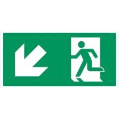vluchtweg links naar beneden