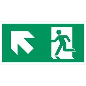 vluchtweg links naar boven