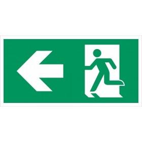vluchtweg linksaf