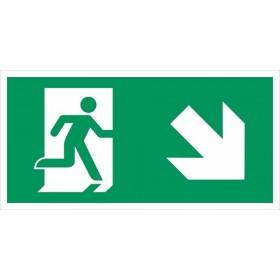 vluchtweg rechts naar beneden