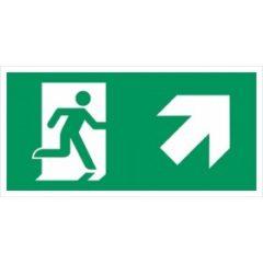 vluchtweg rechts naar boven