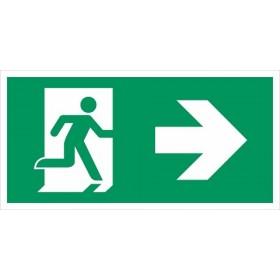 vluchtweg rechtsaf