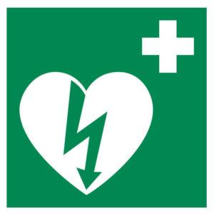 AED – ILCOR – STICKER 10 x 10 cm