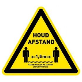 1,5 meter afstand houden – (VLOER) STICKER antislip – driehoek