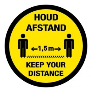 houd afstand - keep your distance rond