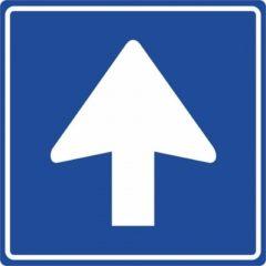 Eenrichtingsverkeer – STICKER 20 x 20 cm