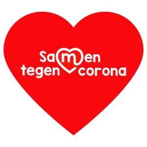 rood hart samen tegen corona