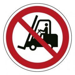 heftrucks verboden