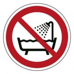 verboden om de douche en bad te gebruiken