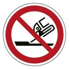 verboden slijpschijf te gebruiken